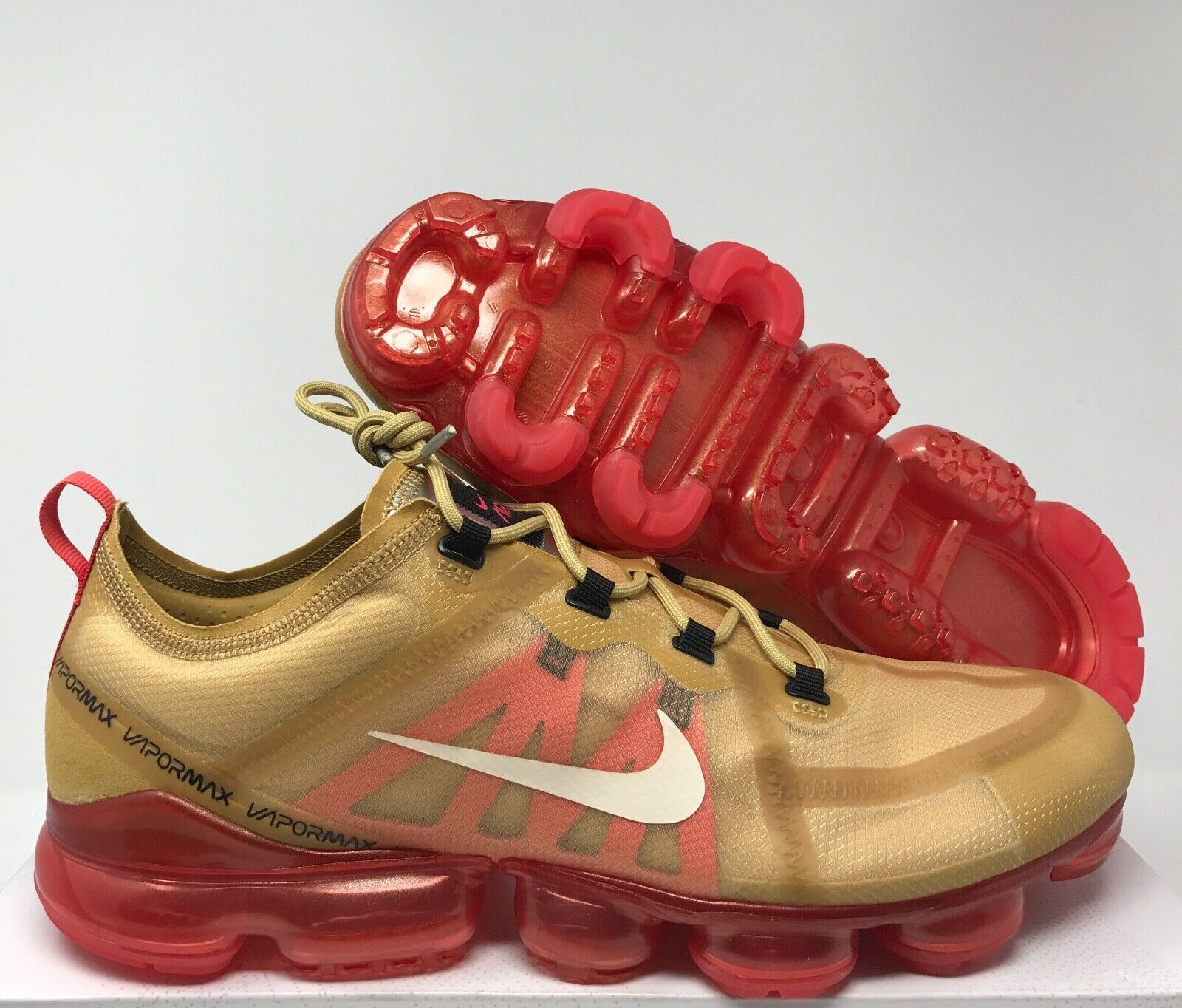 NIKE AIR VAPORMAX 2019 CLUB gold-LIGHT CREAM SZ 14 [AR6631-701]