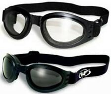 Lot of 2 Protective Motorcycle Skydive Goggle Googles Glasses Clear Smoke Quad