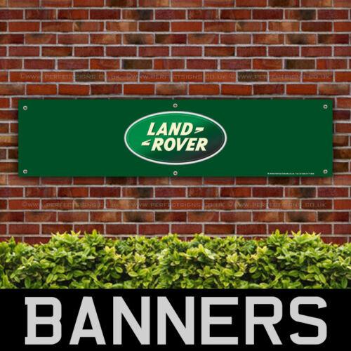 BANPN00054 Land Rover Motors PVC Banners Garage Workshop Green Sign