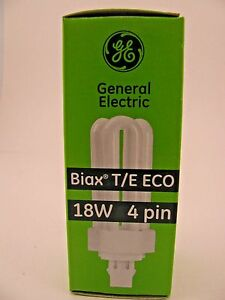 GE Biax T/E ECO 18 W 4 Pin CFL 8-Pack New In Box