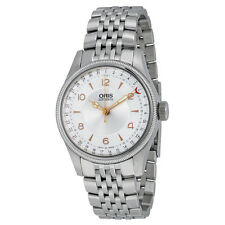 Oris Big Crown Original Pointer Date Silver Guilloche Dial Stainless Steel Mens
