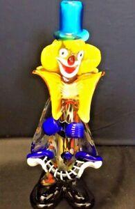 Large-Murano-Art-Glass-Clown-Artist-Signed-Fratelli-Pitau-Perfect