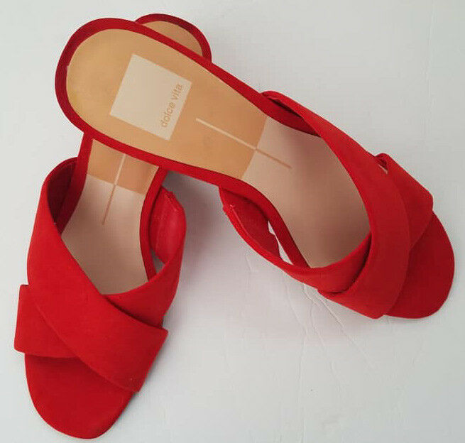 New Doce Vita  women's shoes  coral leather sandals   size 7