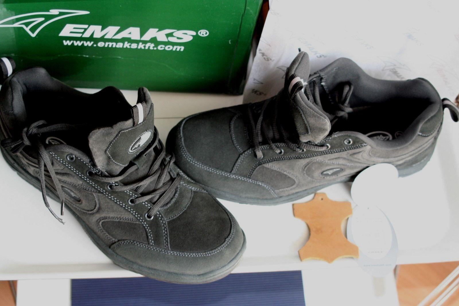EMAKS  dark   Neu  dark  grey  echt Leder/Velours usw 47/ 48 f7f933
