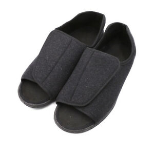6eccb193dbb66 Image is loading Mens-Orthopedic-Adjustable-Slippers-Wide-Width-Open-Toe-