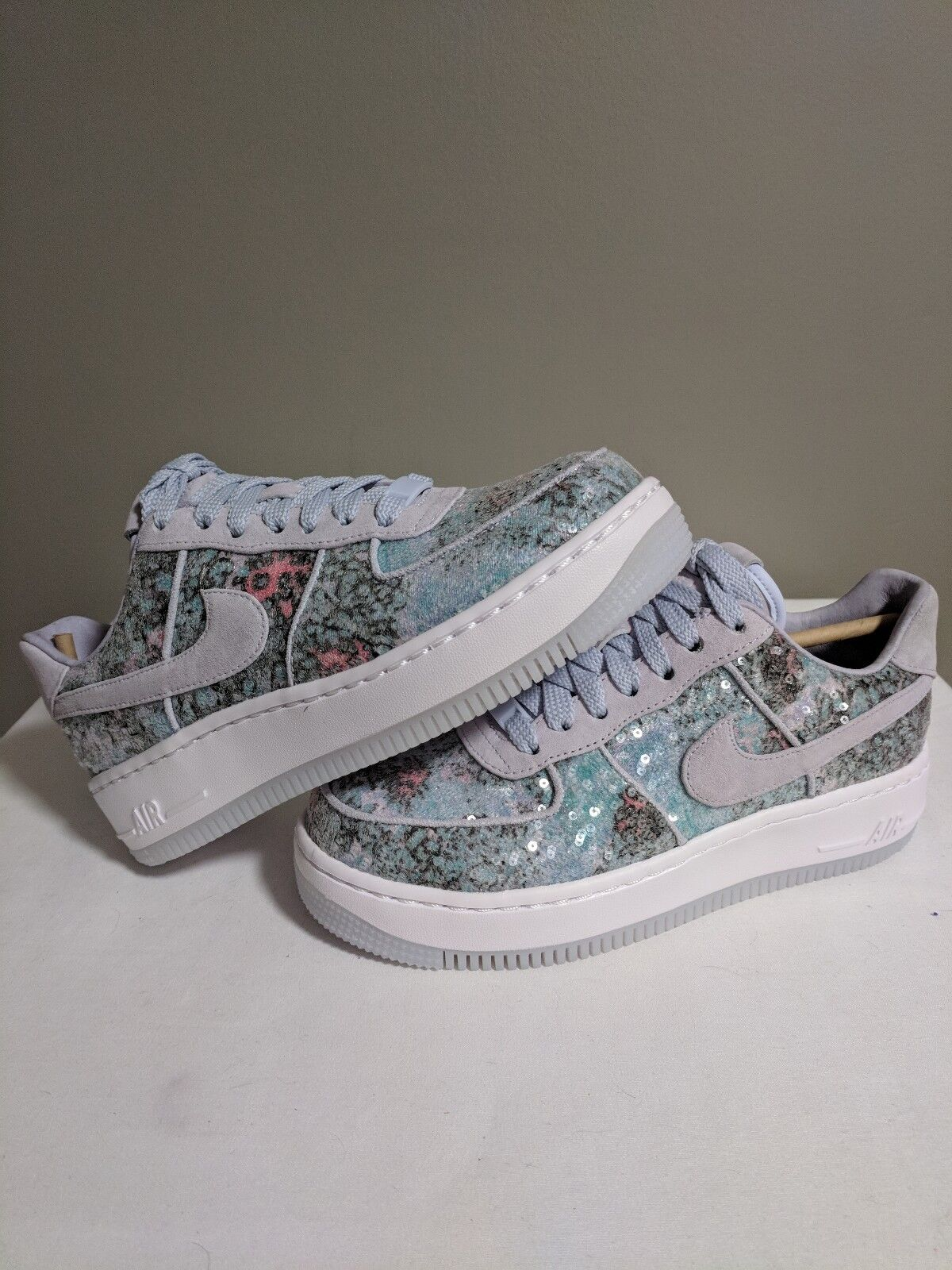 Nike Wmns AF1 Upstep 35 Glass Slipper Air Force 1 one Palest Purple 917589-500 7