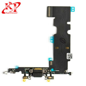 New-OEM-Charging-Port-Dock-Mic-Flex-Cable-Replacement-For-iPhone-8-Plus-Black