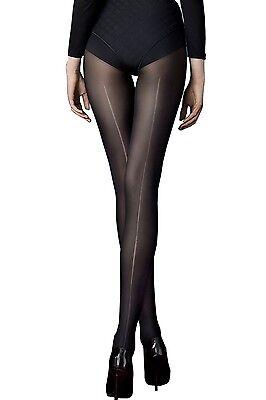 Collant femme fantaisie Fiore - noir semi opaque - Long Black - 40 ... 192f16edbb7