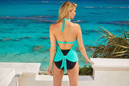NEW MAGICSUIT 14 MIRACLESUIT TANKINI TOP ONLY GIGI SWIMSUIT Pool bluee