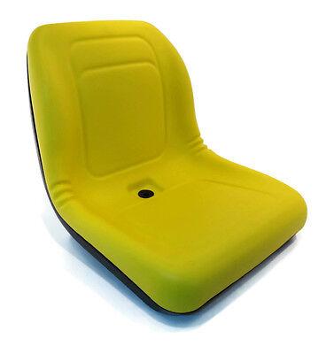 New Yellow HIGH BACK SEAT for John Deere Lawn Mower Models 325 335 345 415 425