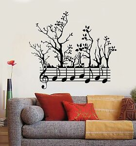 Vinyl Wall Decal Forest Tree Nature Notes Music Branches Stickers 745ig Ebay