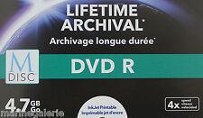 DVD vierge imprimable R 4x printable ARCHIVAGE Lot de 6 120mn 4,7gb boite indiv.