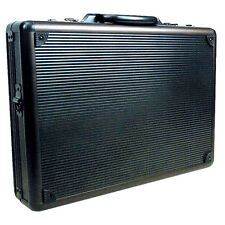Briefcase Aluminum Bag Messenger Men Letter Sheets Office Lock Document -Black