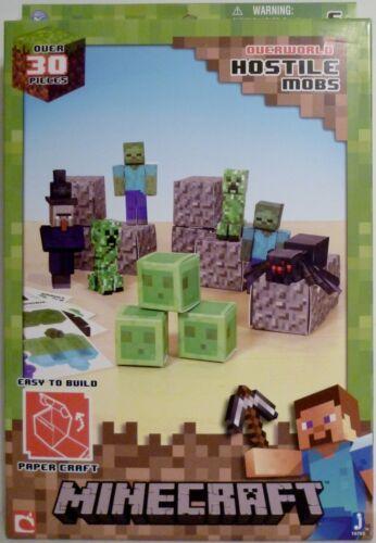 Minecraft Overworld Hostile Mobs Paper Craft Kit 30 Pièces Mojang 2013