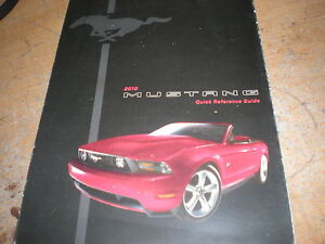 ford mustang factory quick reference owners manual