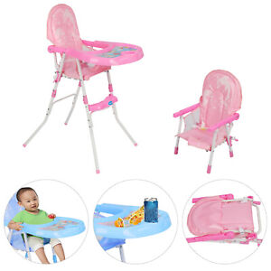 Non-Slip-Type-Baby-Feeding-High-Chair-Seat-Foldable-Children-Infant-Blue-Pink