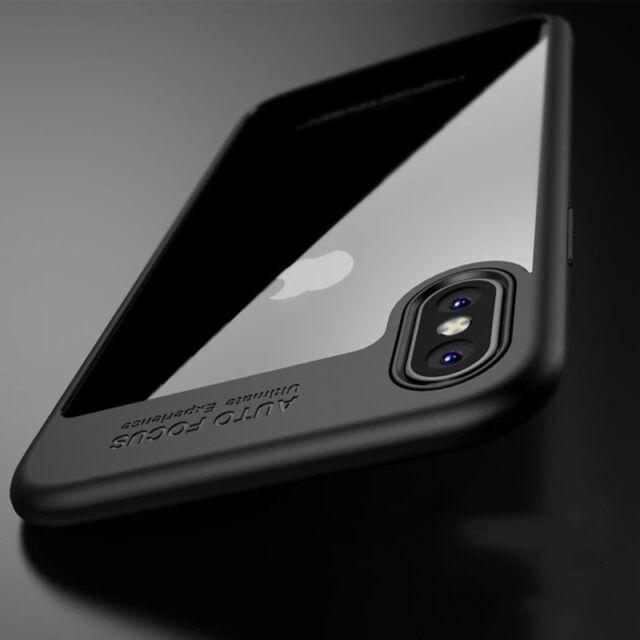 iPhone X Auto Focus Handyhülle Case Schutz Cover Bumper dünn Handytasche Slim