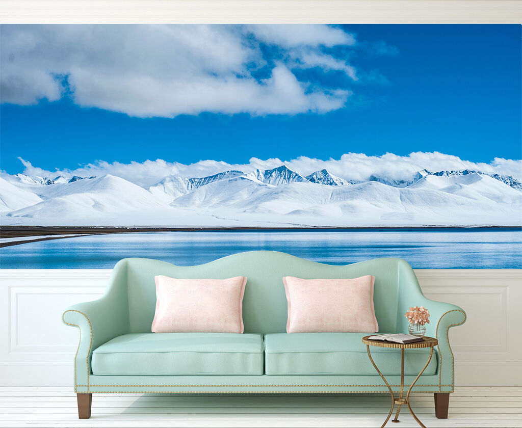 3D sky Snow Mountain 641 Wall Paper wall Print Decal Wall Deco Indoor wall Mural