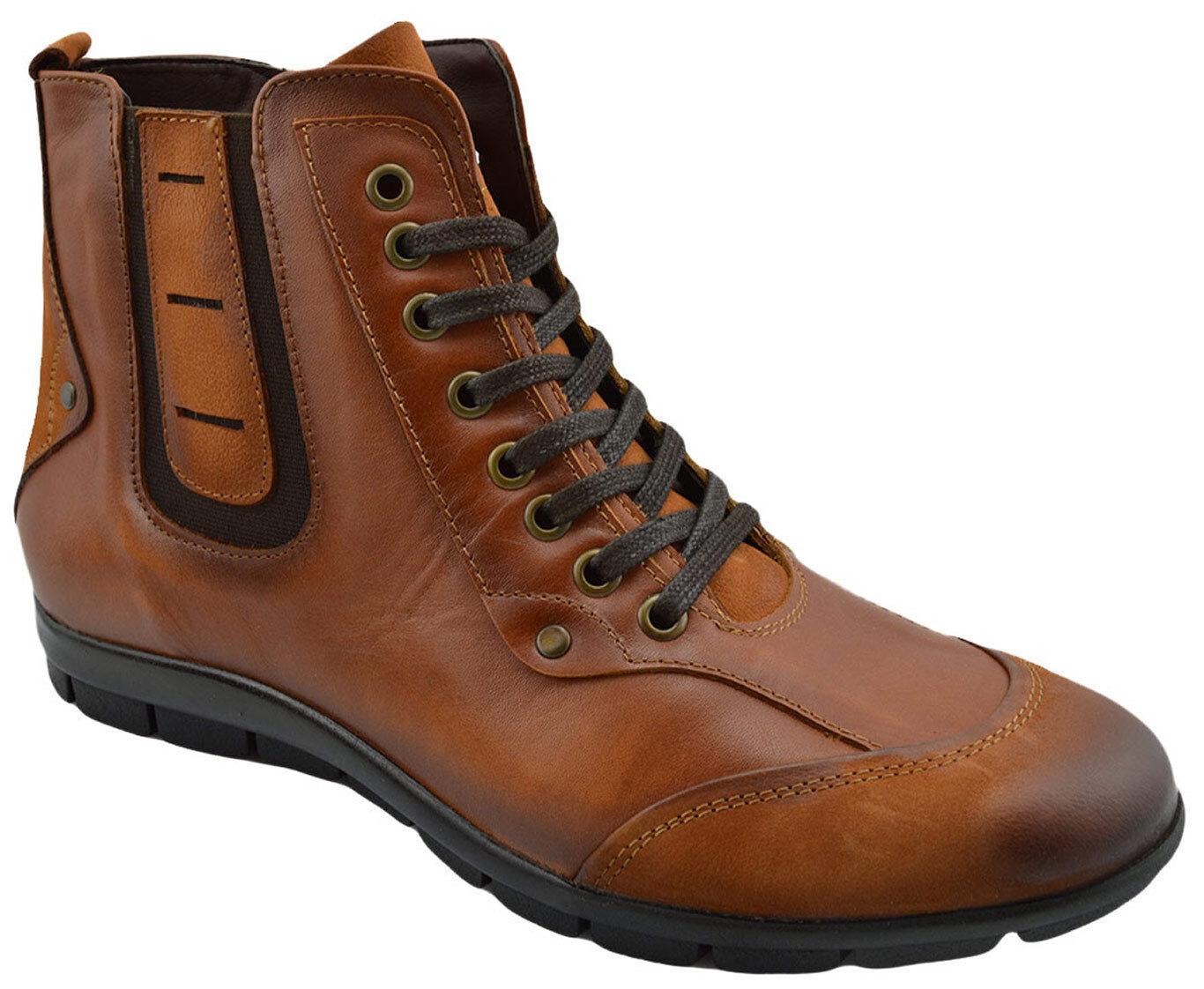 230 OVATTO Marroneee Tabac Calf Leather Ankle stivali stivali stivali Men scarpe NEW COLLECTION 5d7adb