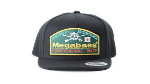 MEGABASS-THROWBACK-HAT-SNAPBACK-LOGO-FISHING-CAP-MENS-OSFM-BLACK