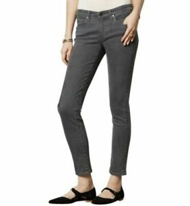 AG-Adriano-Goldschmied-Jeans-The-Stevie-Ankle-Slim-Straight-Gray-Womens-25R-Nice