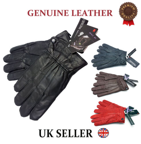 WOMENS REAL LEATHER GLOVES LADIES SOFT THERMAL LINED PREMIUM DRIVING WINTER GIFT