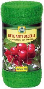 Rete-Antiuccelli-Mt-4x10-Anti-Uccelli-Volatili-Piccioni-Orto-Resistente-UV-Verde