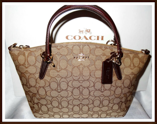 5f14eea11025 New Coach F58283 F36625 Small Kelsey Satchel In Signature Jacquard Fabric  NWT