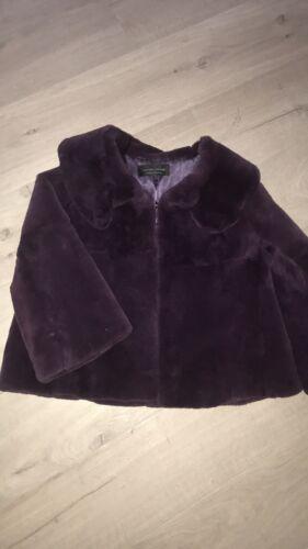 Rabbit Purple Coat Nwot Rex Real Fur Jacket Women's w6UqnI57