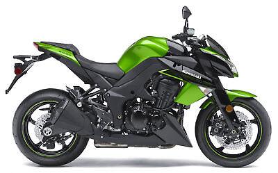 Kawasaki Z1000 Classic Motorbike Poster Print A4