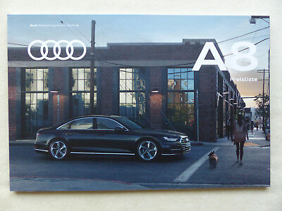 Audi A8 L 50 55 Tdi Tfsi Quattro - Preisliste - Prospekt Brochure 01.2018 Online Shop