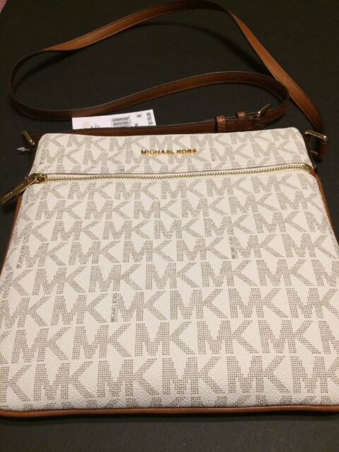 87054784d2f0 Michael Kors Bedford Signature Flat Cross Body Handbag 32h5gbfc2v ...
