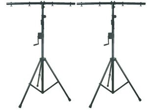 2-x-QTX-Heavy-Duty-High-Quality-DJ-Disco-Winch-Wind-Up-T-Bar-Lighting-Stand