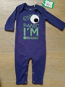 Fred-039-s-World-Bodysuit-no-panic-blau-Biobaumwolle-56-034-NEU-034