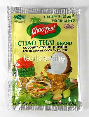 2-Pack CHAO THAI Coconut Cream Milk Powder Mix 2 Oz./60 g. No Preservative