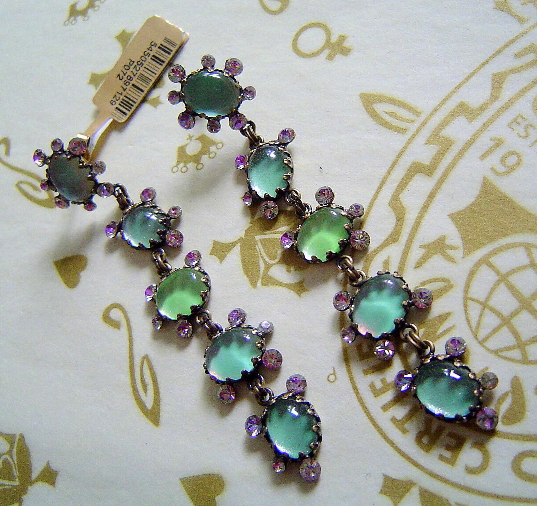 KONPLOTT Earrings Melody Drops Green Antique Bronze
