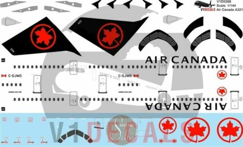 V1 Decals Airbus A321 Air Canada for 1//144 Revell Model Airplane Kit V1D0368