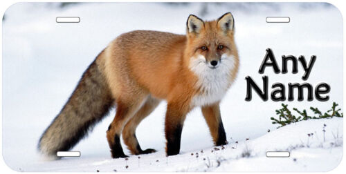 Details about  /Fox Personalized Any Name Novelty Car License Plate