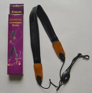 Tenor Sax Neck Strap : alto soprano tenor saxophone sax adjustable neck strap leather new ebay ~ Vivirlamusica.com Haus und Dekorationen