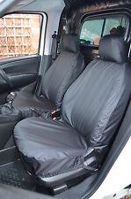Fiat Doblo van 2010 + adaptado y resistente al agua frontal Par Negro cubiertas de asiento Reino Unido realizó