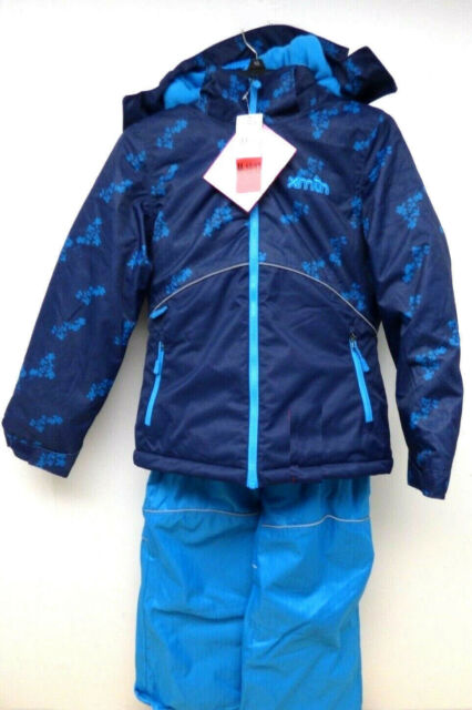 BNWT XMTN Boy/'s Youth 2 Piece Blue//Navy//Floral Snow Suit Size MEDIUM 10//12