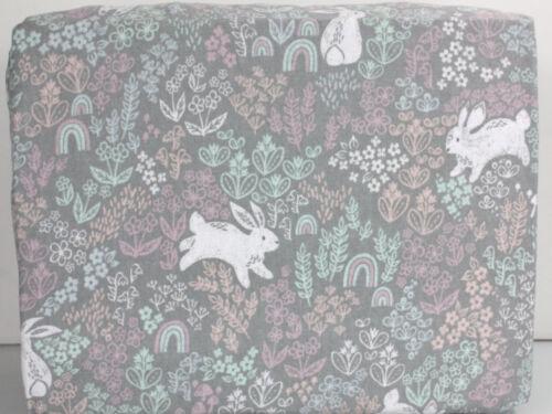 Cuddl Duds Heavy Weight 100/% Cotton FLANNEL Sheet Set  Gray Bunny Rabbit