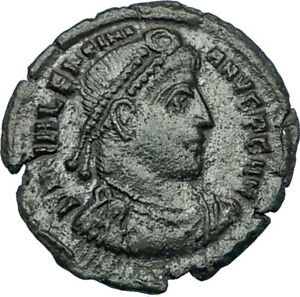 VALENTINIAN-I-367AD-Siscia-Authentic-Ancient-Roman-Coin-VICTORY-ANGEL-i65804