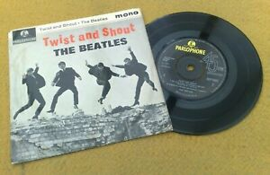 Beatles-034-Twist-amp-Shout-034-Superbo-UK-Raro-Early-70-039-S-EP-Polo-Anelli-Speciale