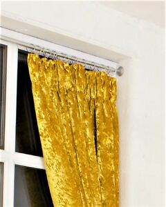 Image Is Loading DESIGNER GOLD HEAVY WEIGHT PENCIL PLEAT CRUSHED VELVET
