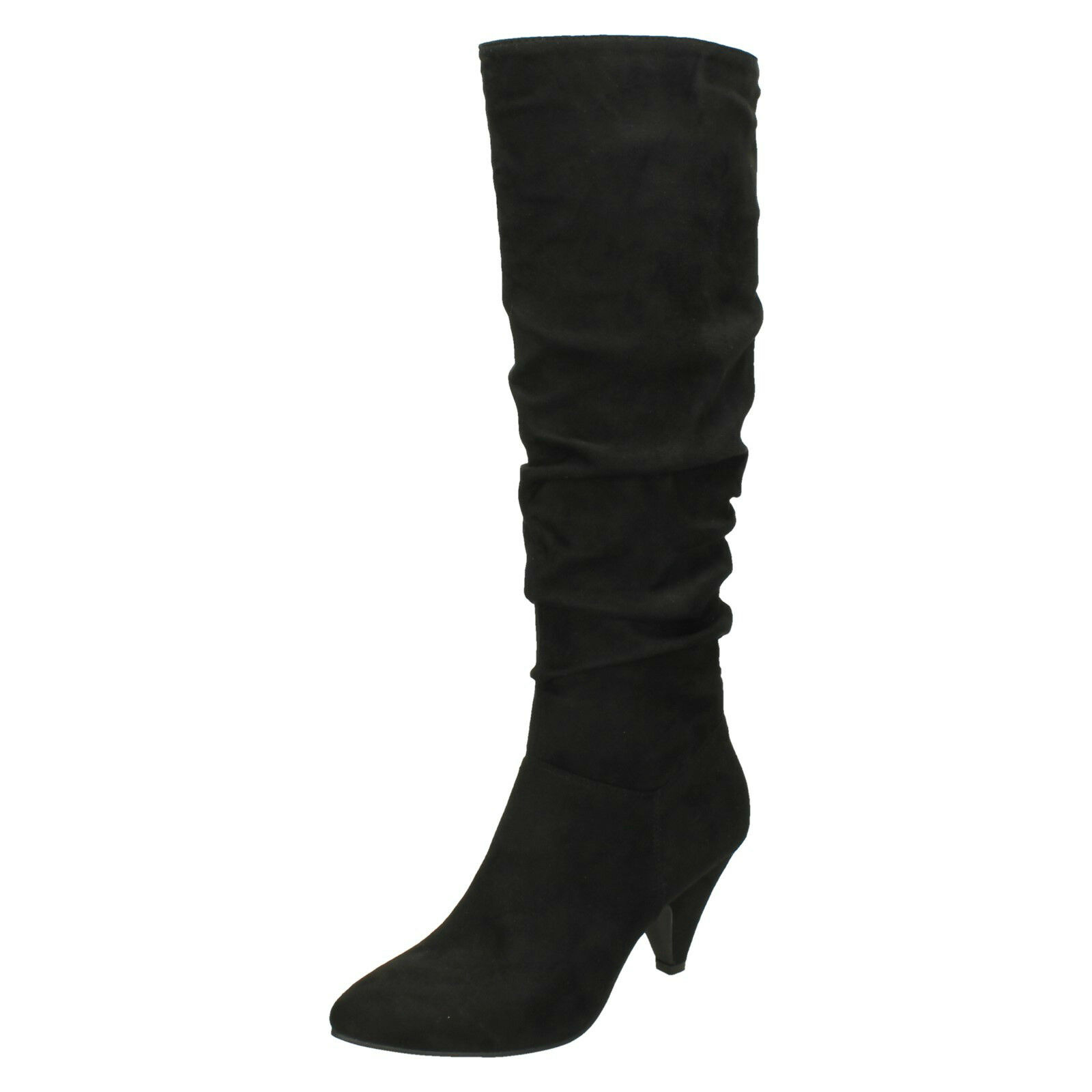 Ladies F5R0898 Long Length Knee High Pointy Toe Boot By Spot On