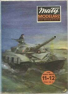 PAPER-CARD MODEL KIT-MALY MODELARZ- Tank  T-72