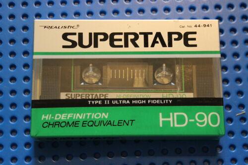 44-941 1 REALISTIC  SUPERTAPE  HD  90     BLANK CASSETTE TAPE SEALED