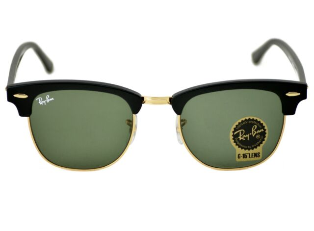 350a2d59ce Ray-Ban RB3016 Clubmaster Classic W0365 Black Frame Green Classic G ...