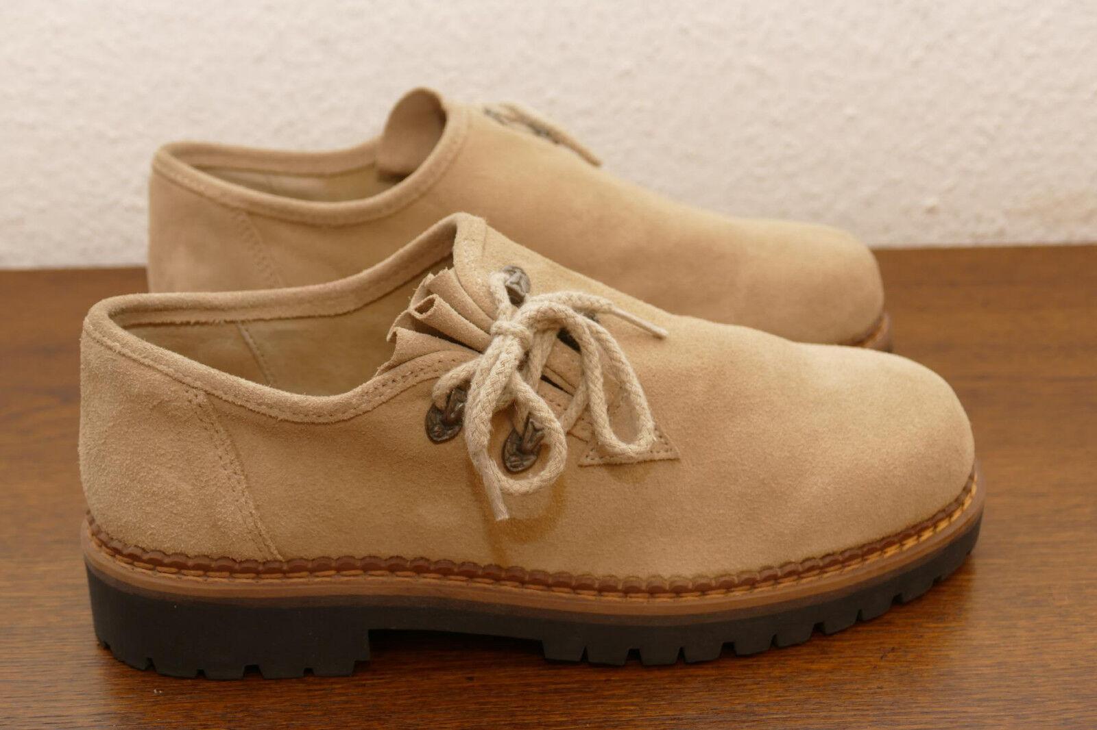 216---Stockerpoint Haferl Schuhe beige Rauhleder Gr 41   NEU